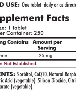 Coenzyme Q10 25 mg - 250 chewables-ingredients
