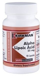Alpha Lipoic Acid 25 mg Capsules - Hypo 90 ct
