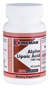 Alpha Lipoic Acid 100 mg - Hypoallergenic - 60 capsules