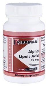 Alpha Lipoic Acid 50 mg - Hypoallergenic - 90 capsules