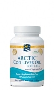 Arctic Cod Liver Oil Capsules - Lemon - 90 capsules