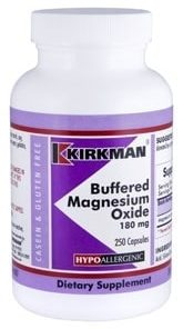 Buffered Magnesium Oxide 180 mg - Hypoallergenic - 250 capsules