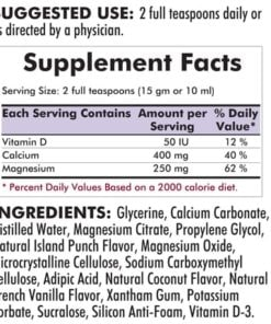 Calcium - Magnesium Liquid - 16oz / 473ml - INGREDIENTS