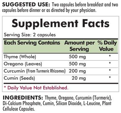 CD-Herbal™ - 180 capsules - INGREDIENTS