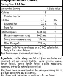 EPA Xtra - Lemon - 60 capsules - INGREDIENTS