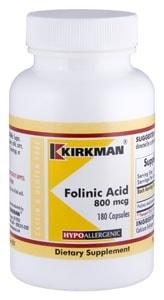 Folinic Acid 800 mcg - Hypoallergenic - 180 capsules
