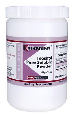 Inositol Pure Soluble Powder - Hypoallergenic - 454 grams - 16oz