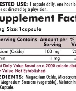 Melatonin Plus Magnesium - Hypoallergenic  - 250 capsules - INGREDIENTS