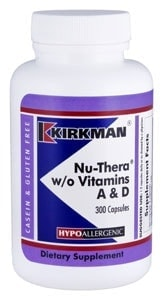 Nu-Thera® without Vitamins A & D - Hypoallergenic - 300 capsules