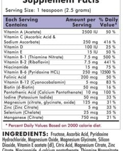 Super Nu-Thera® Powder - Hypoallergenic - 454 grams - 16oz - INGREDIENTS