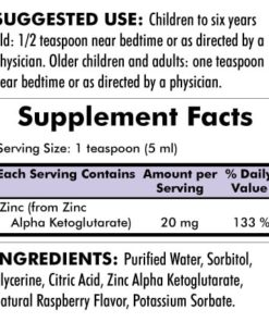 Zinc Liquid - 16oz - INGREDIENTS