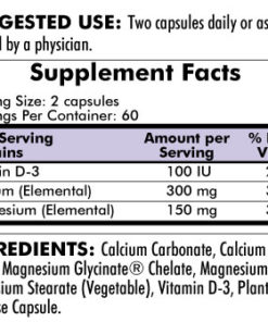 Calcium/Magnesium - Hypoallergenic - 120 capsules - INGREDIENTS