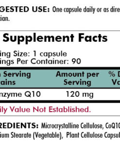 Coenzyme Q10 120 mg - Hypoallergenic - 120 capsules - INGREDIENTS
