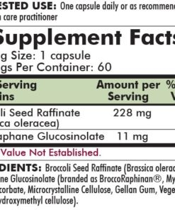 Broccoli Seed Extract - Enzyme Activated - 60 capsules - ingredients