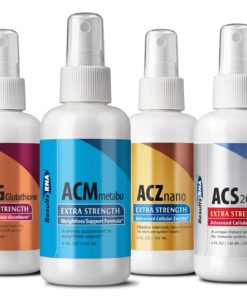 Ultimate Body Weight Loss System 2oz (ACZ Nano, ACG Glutathione, ACS200, Metabo Care), 4 bottle set