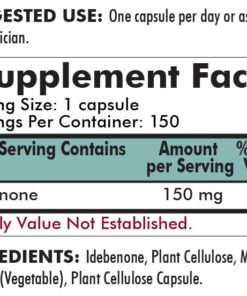 Idebenone 150 mg - Hypoallergenic - 150 capsules-ingredients
